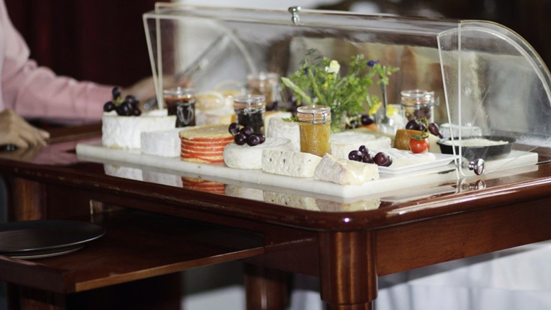 La Villa's Extensive Cheese Trolley